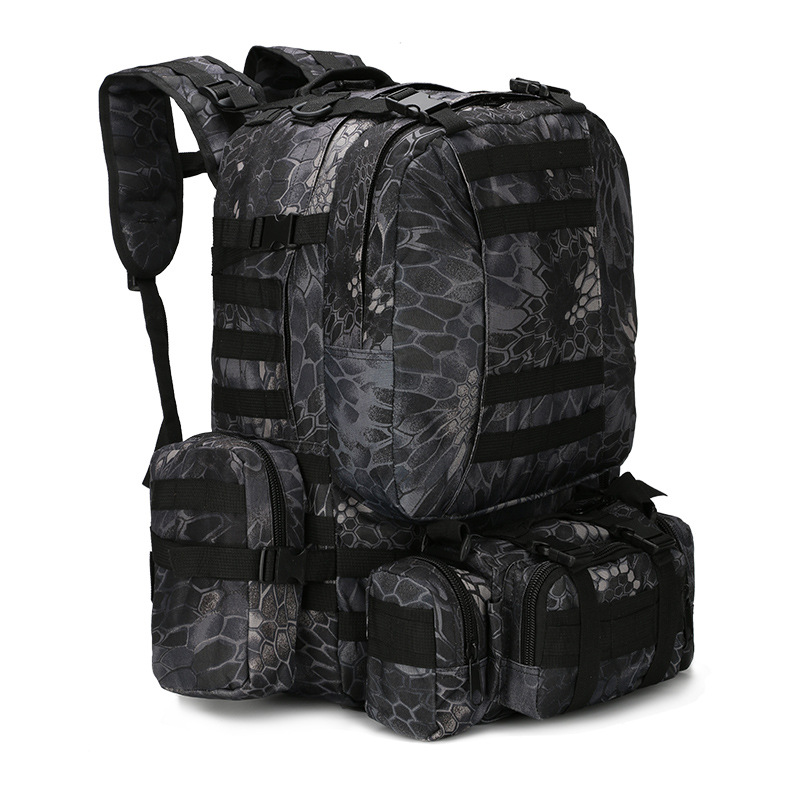50L Tactical Backpack 4 in 1 Military Bags Army Rucksack Backpack Molle Outdoor Sport Bag Men Camping Hiking Travel Climbing Bag handbag