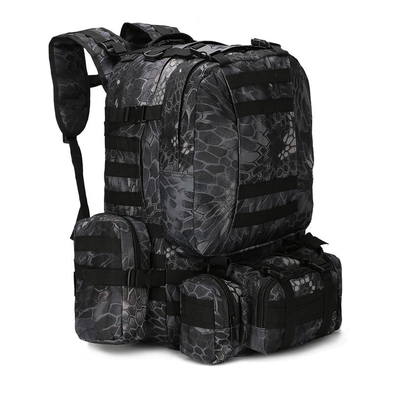 50l tático mochila 4 em 1 sacos militares do exército mochila molle saco de desporto ao ar livre dos homens acampamento caminhadas viagem escalada