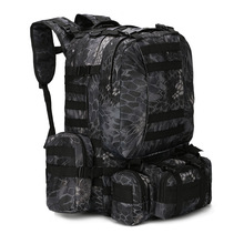 50L Tactical Backpack 4 in 1 Military Bags Army Rucksack Bac