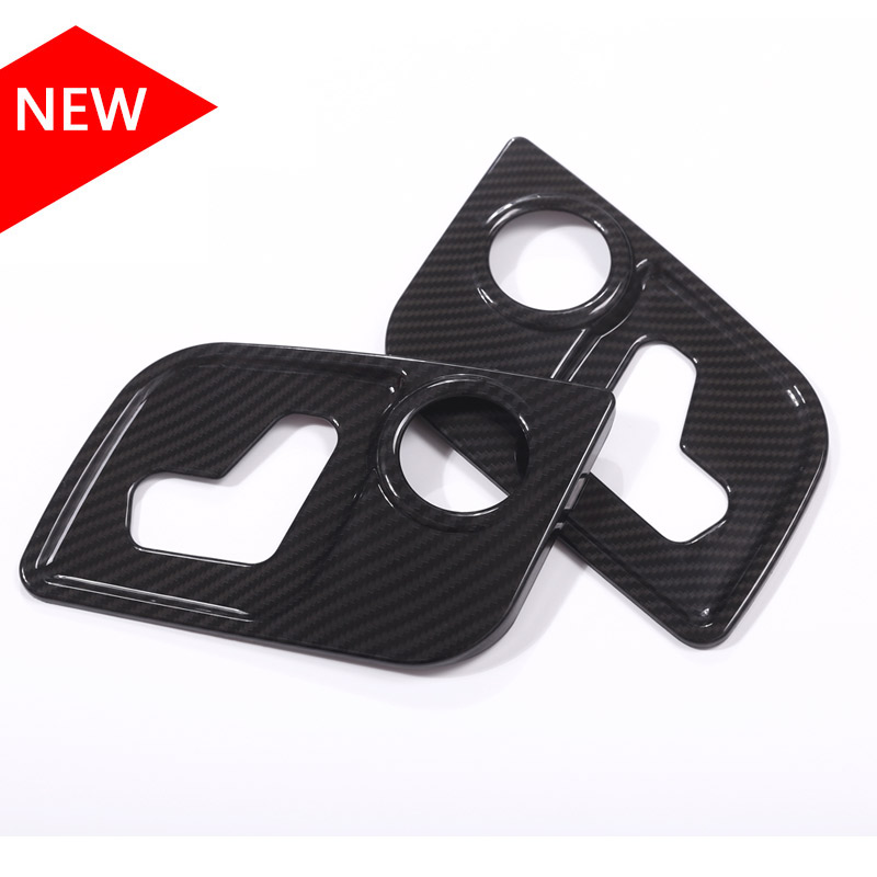 Carbon fiber Style ABS Plastic For Maserati Levante For Ghibli For Quattroporte Car-Styling Seat Side Decorate Frame Cover Trim abs accessories for ford mustang 2015 2016 2017 carbon fiber style car seat backrest adjustment handle frame cover kit trim