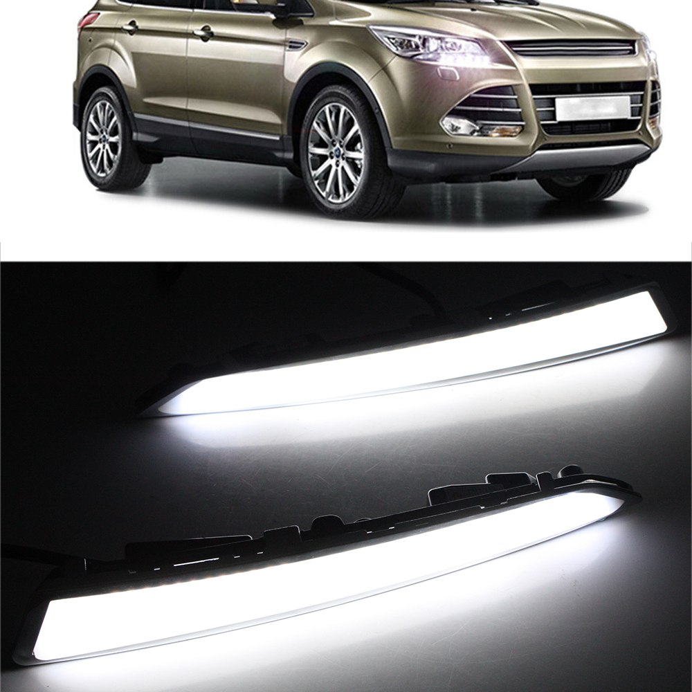ФОТО High Quality Car-special LED Daytime Running Light for FORD KUGA 2014 2015 2016 2017 DRL Freeshipping D25