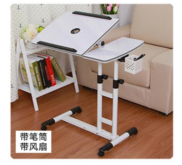 High quality  (48*20)*40cm Laptop Desk Movable Anti-Slip  Notebook Computer table with pen case & fan new 3u ultra short computer case 380mm large panel big power supply ultra short 3u computer case server computer case