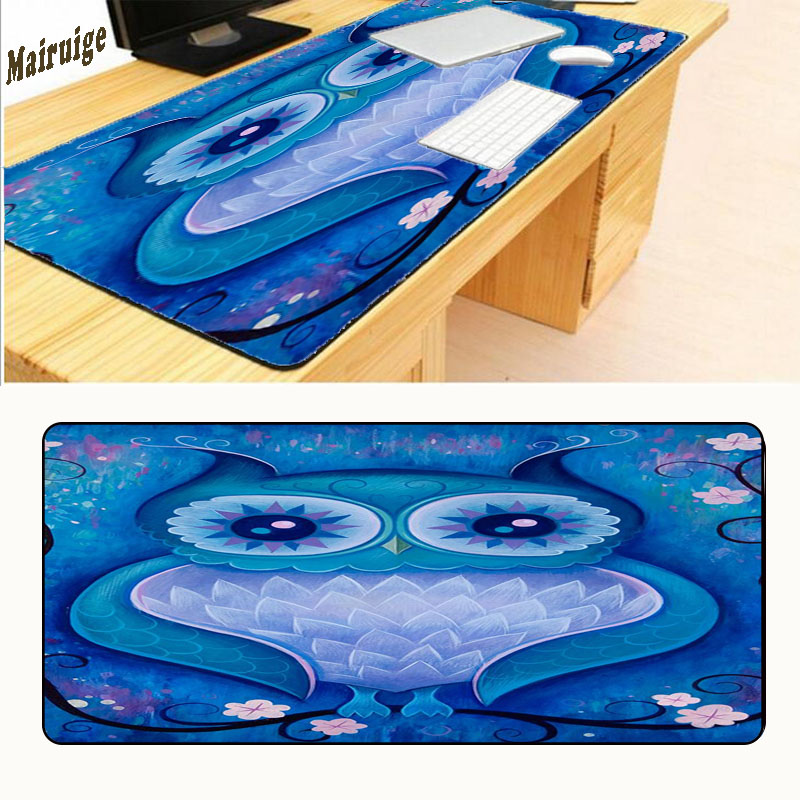 Mairuige Funny Owl Animal Decorate Your Desk At Home and Office Desk Gming Mouse Pad Size 900*400*2mm Free Shipping Lock Edge