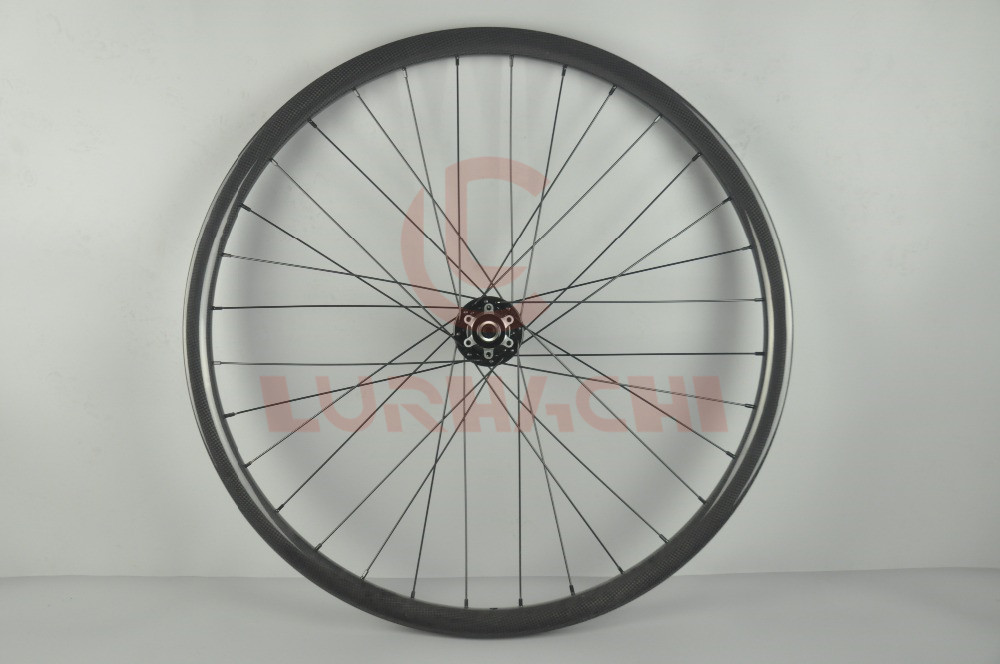 LURHACHI 27.5er MTB XC Carbon Wheelset 3K/UD Glossy 30mm Width 25mm Depth Hookless 28/28H D711/D712SB 27.5 Inch Mountain Wheels