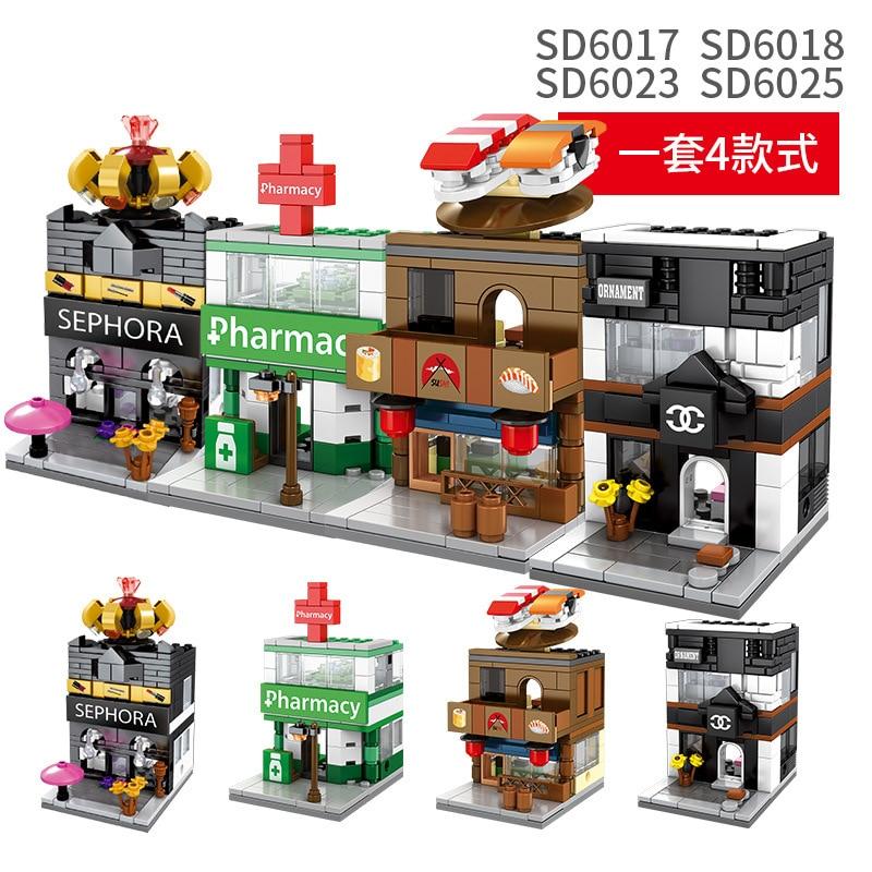 Sembo Blocks Mini World little Shop City Building Education Kids Children Toy AU