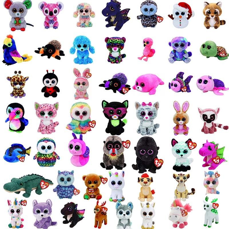 TY Beanie Boos 15cm Scottish Highland Cow Dog Olw Dange Alpaca Dragon Plush Toys Big Eyes Eyed Stuffed Animal Soft Toy Kids Gift стоимость