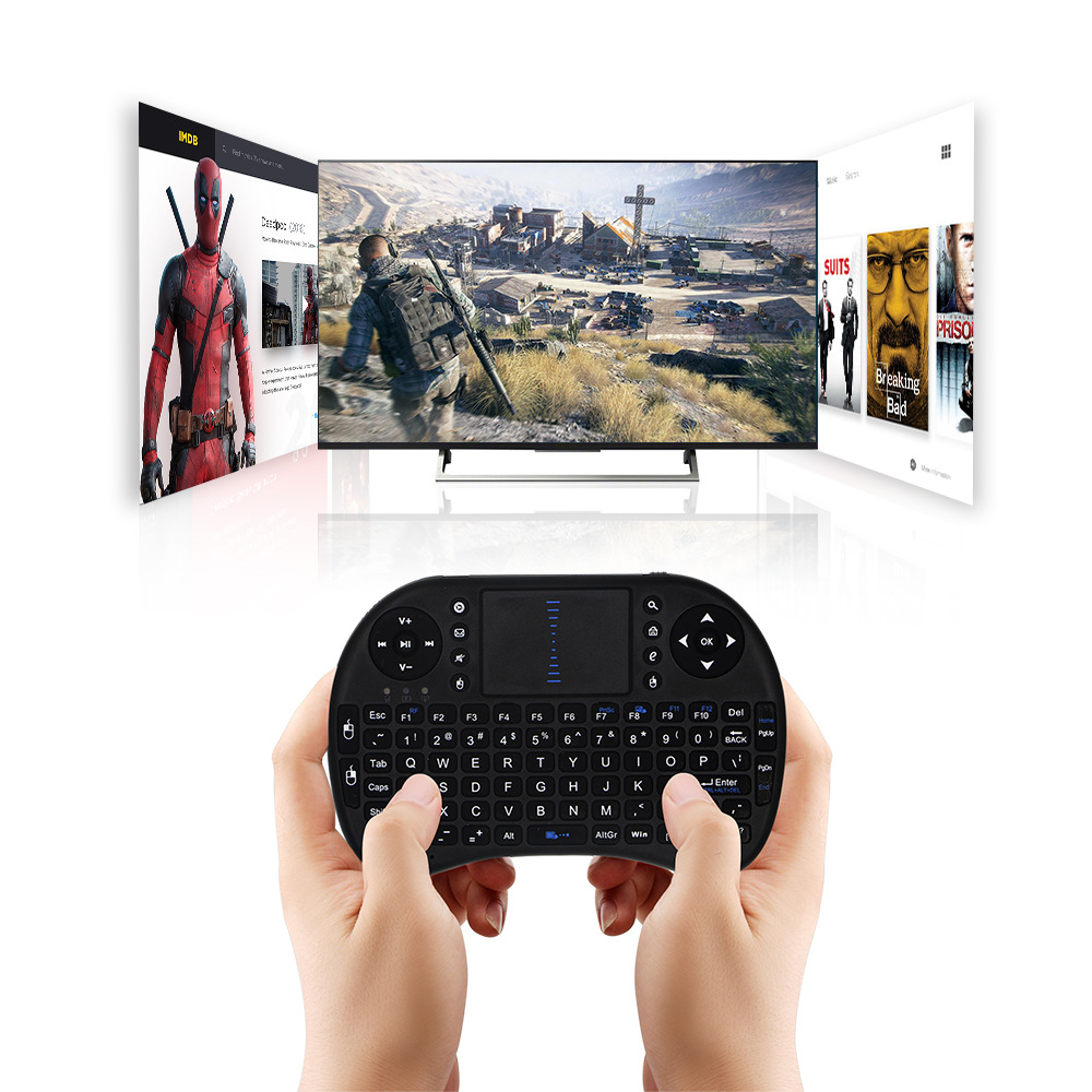 Mini Wireless Keyboard 2 4GHz Wireless Multi functional English Keyboard Touchpad Fly Air Mouse For Set Top Box Smart TV in Keyboards from Computer Office