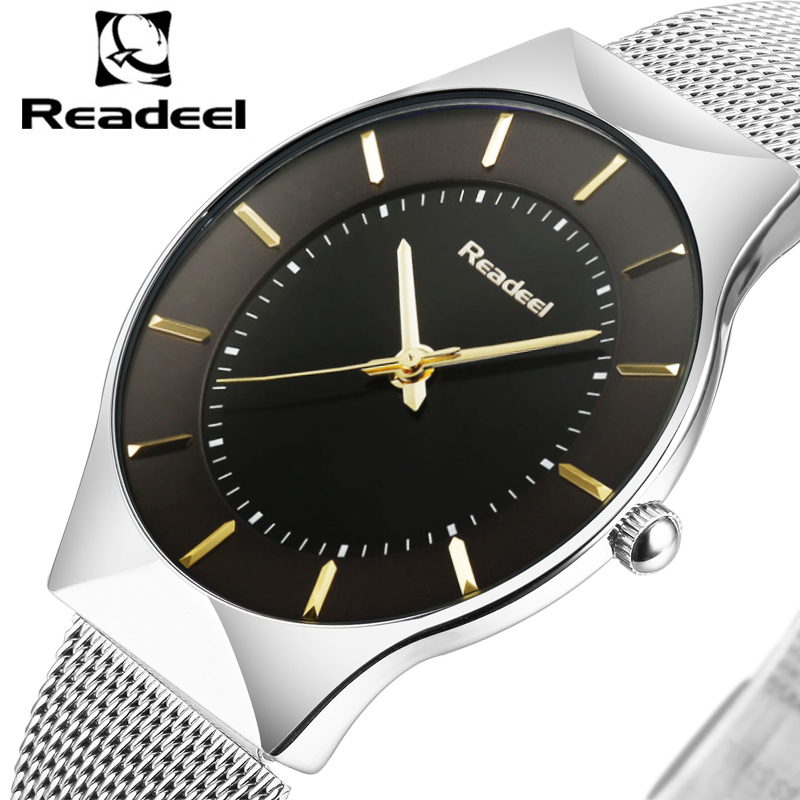 Readeel Brand Men Watches Luxury sport Quartz 30M waterproof watches men's stainless steel band auto date wristwatches relojes top brand luxury men watch luxury sport quartz 30m waterproof watches male stainless steel new auto date wristwatches relojes