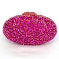 LaiSC oval luxo noite sacos de embreagem vermelho Artesanato de cristal bolsa da embreagem ouro diamante mulheres do partido sacos de noite bolsas SC154