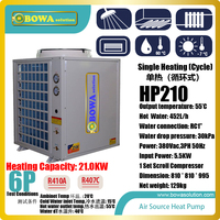 6P cycle heating air source heat pump water heater makes use of low grade heat to get high grade heat for getting hot water