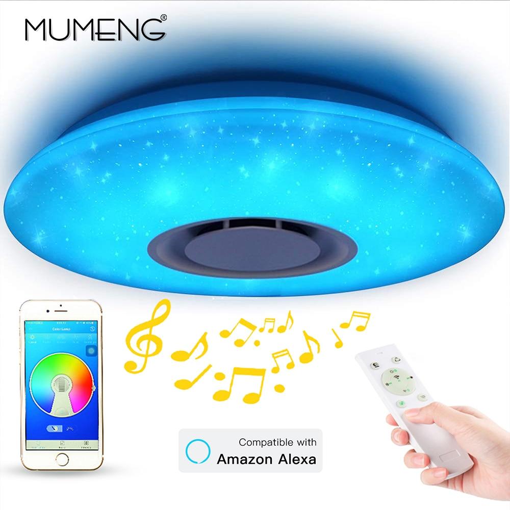 Lampe étoile à LED moderne RGB intelligent bluetooth musique plafonnier Dimmable 36W APP télécommande lumière pour pour salon chambre