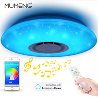 Modern LED Star Light RGB Smart Blutooth Music Ceiling Light Dimmable 36W APP Remote Control Light for For Living Room Bedroom