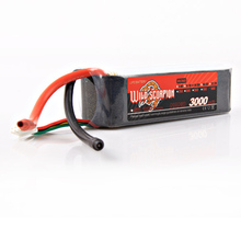 1pcs Wild Scorpion RC Lipo Battery 14 8V 3000mAh 60C 4S For RC Quadcopter Drone Helicopter
