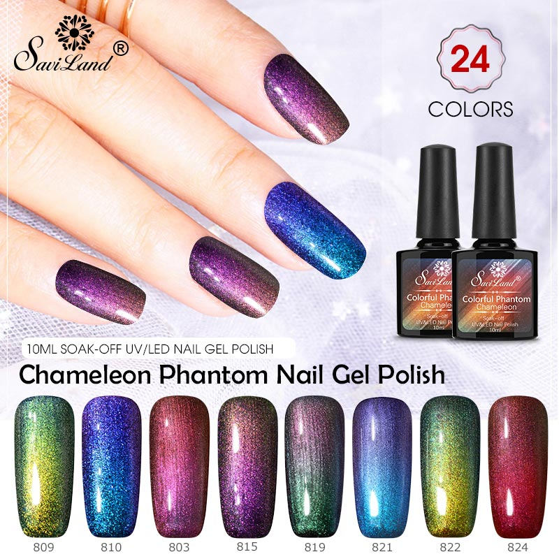 Gelaxy Gel Nail Polish: Saviland Chameleon Nail Gel Polish Galaxy Starry Gel