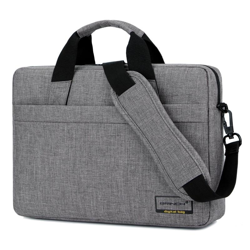 Brinch 13 14 15 Inch Nylon Solid Shockproof Laptop Notebook Tablet Bag Bags Case Messenger Shoulder Unisex for Men Women
