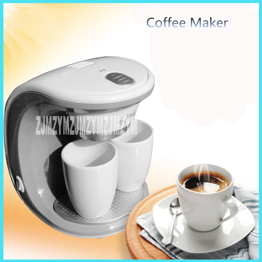 2cups ccm 801 electric double serve drip coffee maker ceramic mug american nescafe capsules ...