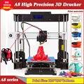 3d принтер DIY A8 Высокая точность рабочего стола Prusa i3 DIY ЖК-экран принтер дерево Impresora 3d сбой питания печать