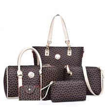 Neverfull 2016 Hot SELL Fashion Ladies Bags 6 Sets Women Bag Brand Purses Women Fashion Neverfull Handbags Messenger Louis Bag