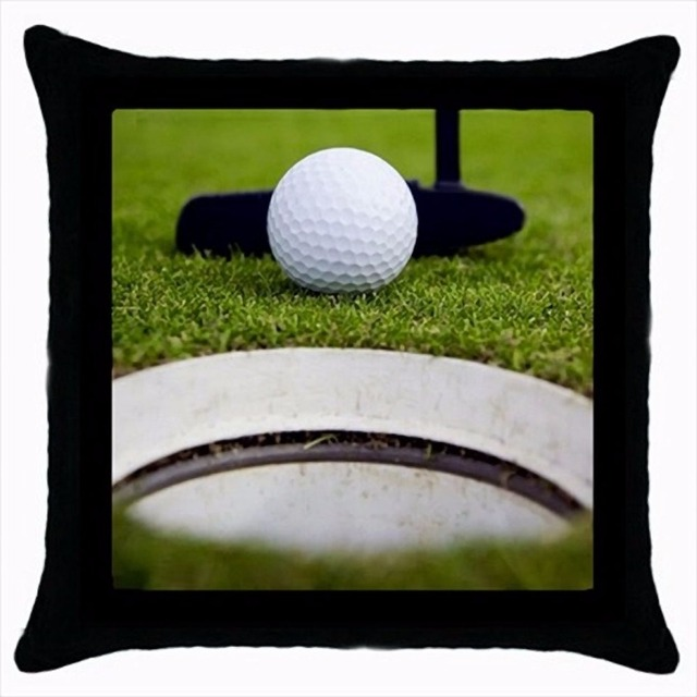 Hot Black Golf Putting Cushion Cover Golf Throw Pillow Case Sports Adorable Decorative Sports Pillows