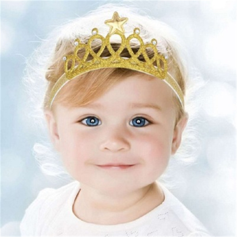 Baby Crown Headband Chic Lace Flower Princess Girls Newborn Infant Toddler Anniversary Hair Headdress Children Hair Accessories