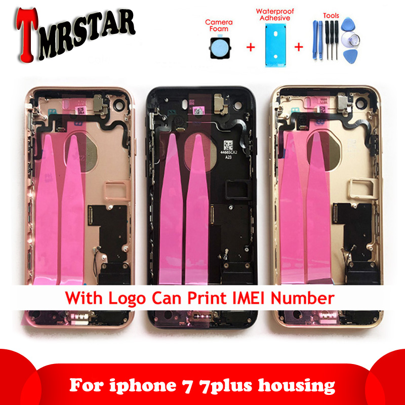 For Iphone 7 7G Or 7 Plus Back Middle Frame Chassis Full Housing Assembly Battery Cover Door Rear With Flex Cable Have CE