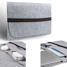 11.6 inch Wool Felt Inside Pocket book Laptop computer Sleeve Bag Case Carrying Deal with Bag For Macbook Air 11