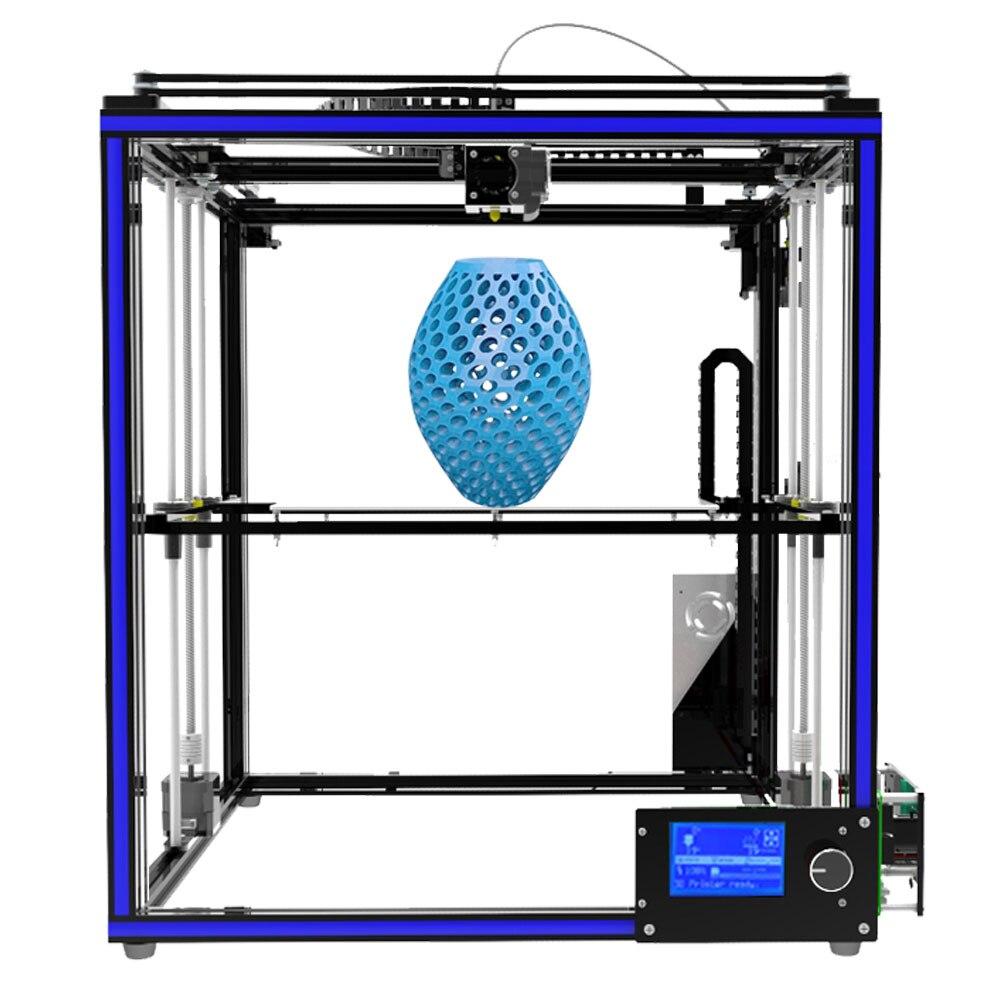 Quadro Perfil de Alumínio de alta-precisão Tronxy X5S 3D Impressora de Grande Área de Impressão CoreXY Sistema 12864 P LCD Tela Grande