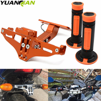motorcycle LED License Plate Bracket Holder and hand grip Dirt Bike for ktm 300 EXC SIX DAYS 250 EXC F SIX DAYS 85 65 50 SX