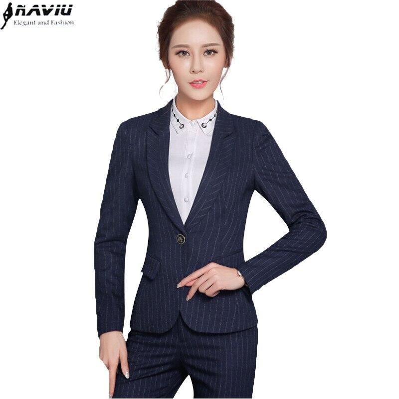 Online Get Cheap Women Work Trouser Suits Stripe -Aliexpress.com ...