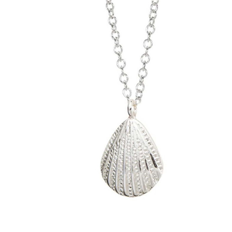Shell Pendant Silver Plated Necklace Copper Made Fashion Female Jewelry Trendy Female Cloth Accessories