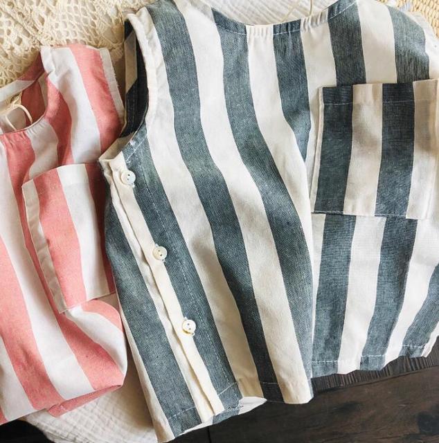 Boys Striped Vest Cotton...
