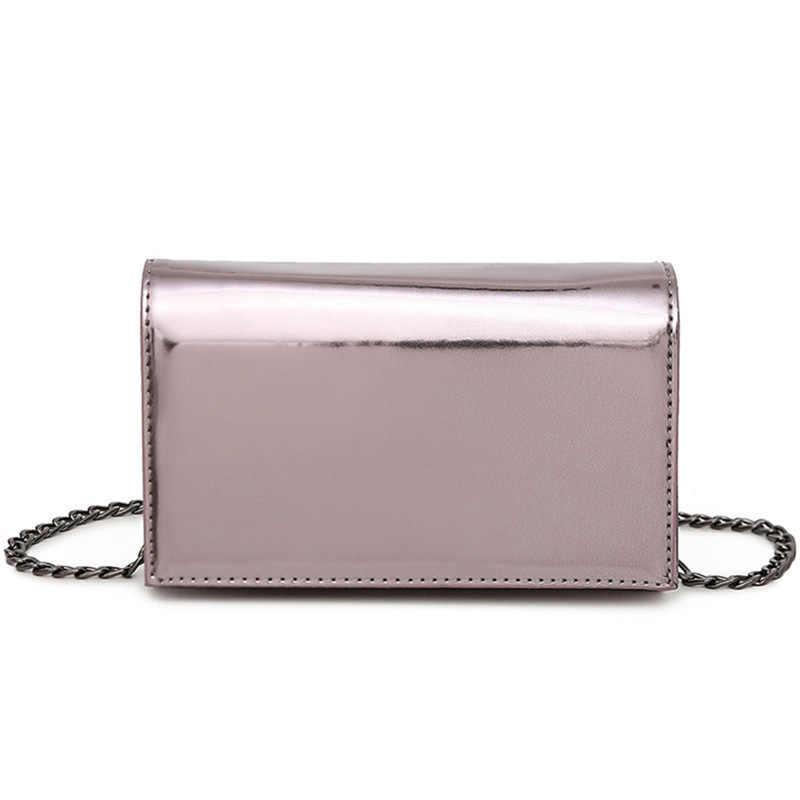 2018 Harajuku с фирменным дизайном милые цепи Лазерная плеча сумка женский клатч сумка девушки Подвеска на сумку, сумка мешок голограмма серебро