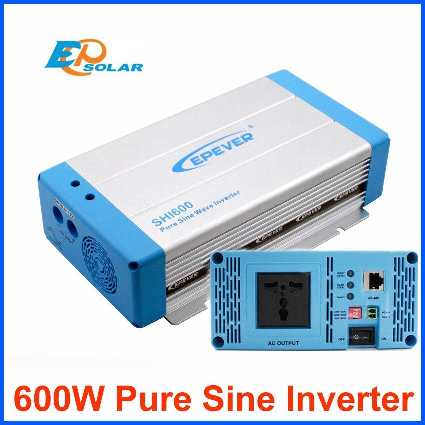 Off grid tie inverter 600 watt 230 v 220 v ausgang reine sinus welle EU/AU buchse optional SHI600 12 v 24 v DC eingang EPEVER Produkte