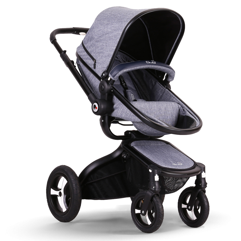 Gubi baby stroller baby carriage trolley four wheel folding EU strollers 2 in 1 baby pram
