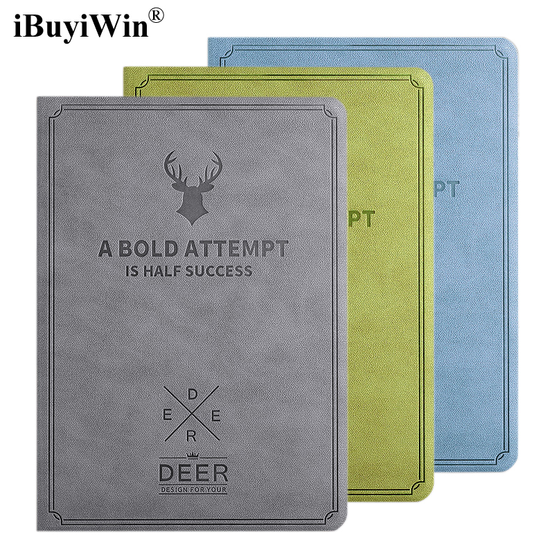 iBuyiWin Case for iPad Air 1 2 3D Deer Pattern Magnetic Stand Smart Cover Auto Sleep/Wake PU Leather Case for iPad 5 6 9.7+Film 100% new jintai dc power jack port vga usb board for dell inspiron 15r n5110 vostro v3550 pfyc8