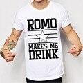 Ромо Заставляет Меня Пить Футболки Мужчины Звезды Dallas Новые Ковбои Сезон Мужчины Футболка Топ Тис Camisetas Masculinas