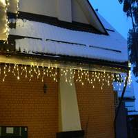 Curtain Lights Window Curtain Icicle Lights 16 4ft 5M 216 LED Icicle Christmas Holiday Lights Waterpoof