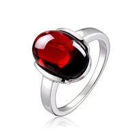 3 colors 925 Sterling silver Natural semi precious stones red rings Garnet Rings Women jewelry lovers best simple fashion gift