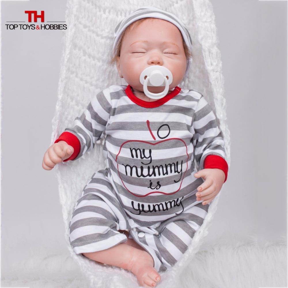 ФОТО 20 Inch Baby Born Doll Silicone Vinyl Reborn Boy Dolls Realistic Alive Bonecas DollS Newborn Menina Children Toys juguet