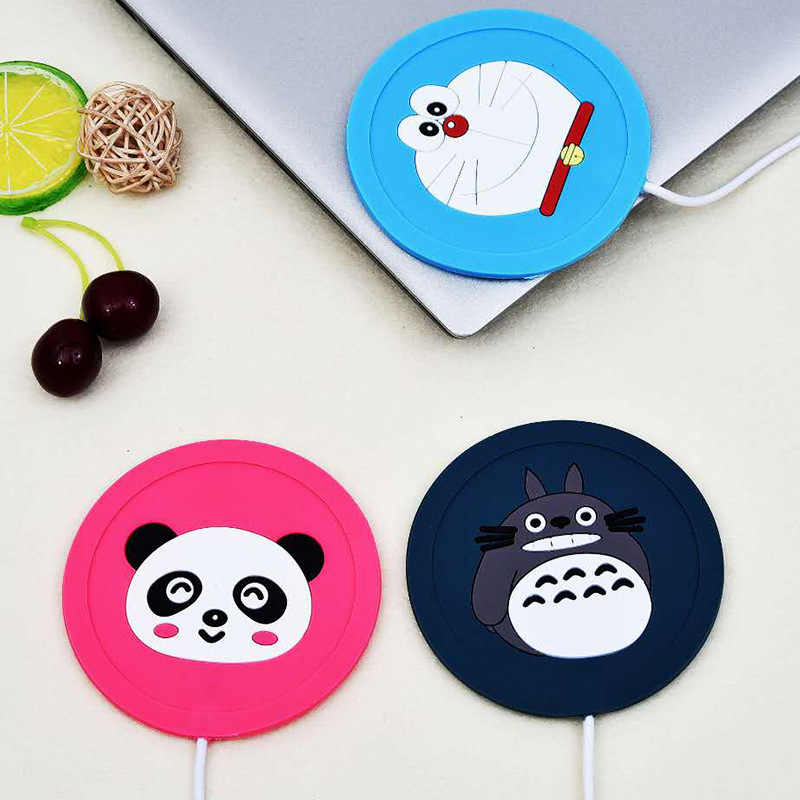 Cute Cartoon 5V USB Warmer Silicone Heat Heater for Milk Tea Coffee Mug Hot Drinks Beverage Cup Mat Kitchen Tools Heater newest