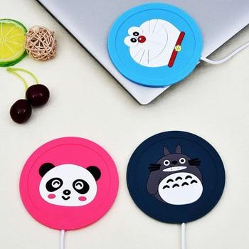 Cute Cartoon 5V USB Warmer Silicone Heat Heater for Milk Tea Coffee Mug Hot Drinks Beverage Cup Mat Kitchen Tools Heater newest