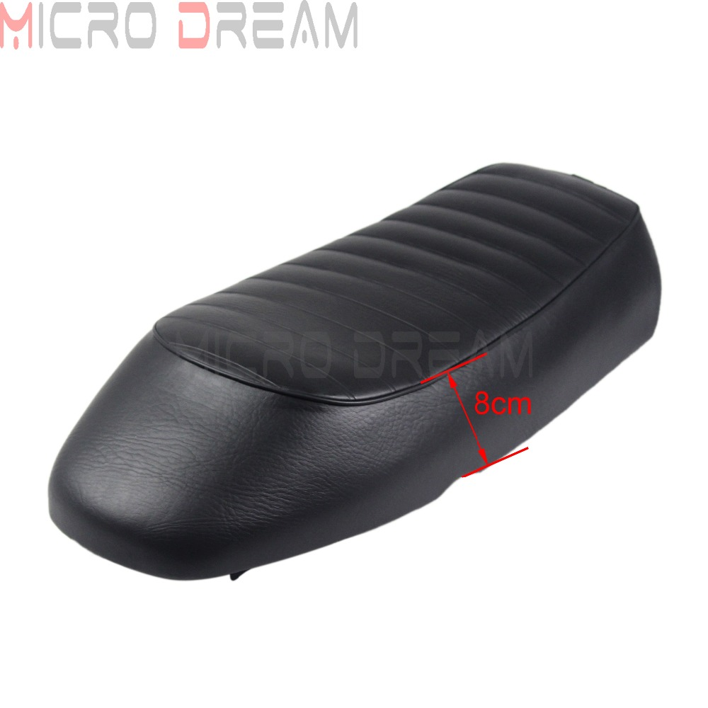Flat Retro Seat Cafe Racer Rear Passenger <font><b>Driver</b></font> Seats Cushion For Honda Yamaha Suzuki BMW CB750 CX500 XS650 SR400 GS500 GS750 image