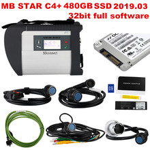 2019.09 Best quality MB STAR C4 with last X ENTRY software 480GB SSD MB SD Connect Compact 4 Diagnostic Tool  DHL free shipping