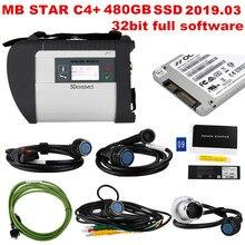2019,09 Beste qualität MB STAR C4 mit letzten X ENTRY software 480GB SSD MB SD Verbinden Kompakte 4 Diagnose Tool DHL kostenloser versand