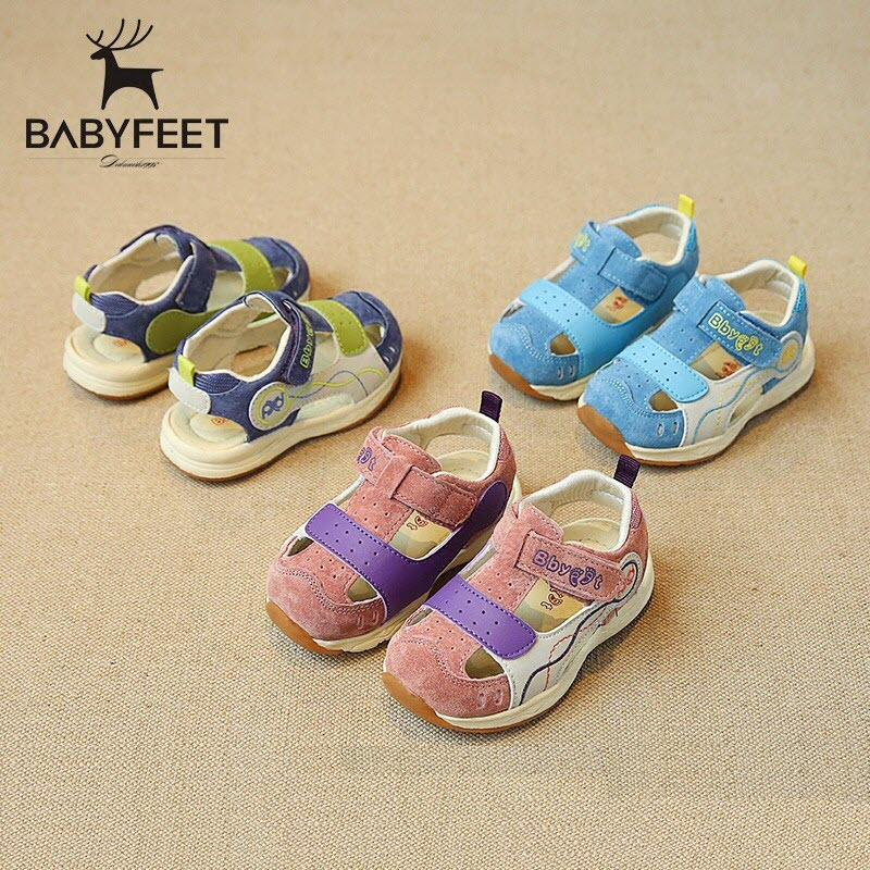 Brand babyfeet Summer child baby infant kids children boy boys girl girls Pig Leather Sandals Shoes  L7022 Toddler shoes 21-25 babyfeet newborn baby boy shoes toddler sandals leather non slip kids shoes 0 1 years old boy girl children infant infantile