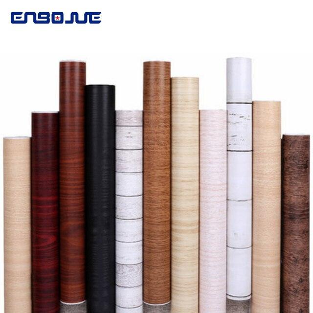 PVC Self Adhesive Waterproof Furniture Refurbished Wood Grain Wallpaper Dormitory Bedroom Wallpaper Wardrobe Table Door Sticker