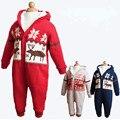 2015 горячей мода новорожденный цельный мальчик одежда детская длинным рукавом зимой комбинезон младенческой комбинезон одежда устанавливает комбинезон