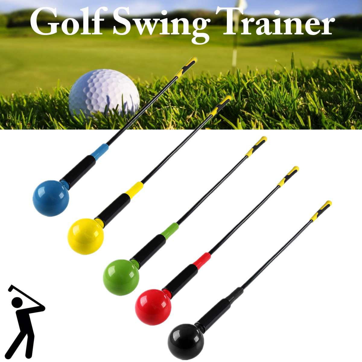1cm Golf Indoor Outdoor Practice Swing Aids Tool Beginners Auxiliary Training Equipment Swing Exercise Stick Golf Equipment 3