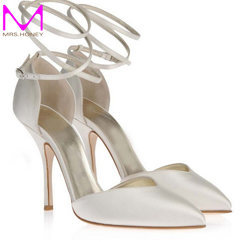 Online Buy Wholesale ivory satin high heels from China ivory satin ...