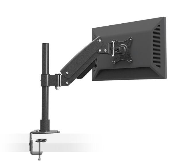 Desktop Clamping Heavy Duty Full Motion Gas Spring LCD LED Monitor Holder Arm Grommet Mount Height Adjustable Loading 10kgs suptek full motion lcd stand desk mount for 10 30 computer monitor with gas spring arm with clamp or grommet desktop suppor